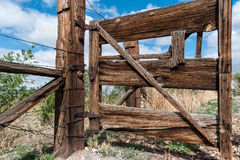 Great old ranch gate Royalty Free Stock Photo