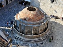 The Great Onofrio Fountain from above. Photo of the big Onofrio Fountain - Dubrovnik - Croatia - July 2010 Royalty Free Stock Photos