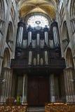 Organ of the Notre-Dame de Rouen cathedral royalty free stock photos
