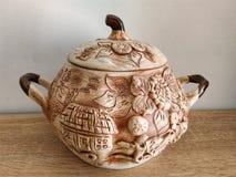 Great, original handmade clay vaze stock photo