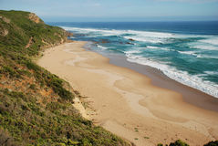 Great Otway National Park along the Great Ocean Road, Australia. Castle Cove in Great Otway National Park along the Great Ocean Road, Victoria, Australia Royalty Free Stock Photo