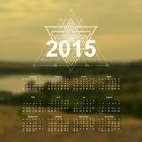 The Great Outdoors calendar. Vector illustration Royalty Free Stock Photo
