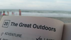 The Great Outdoors - Myrtle Beach. Myrtle Beach, South Carolina. Word find header Stock Image