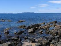 Great Oyster Bay, Triabunna, Tasmania Stock Photography