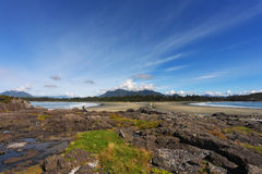 Great Pacific Beach on Vancouver Island Royalty Free Stock Photography