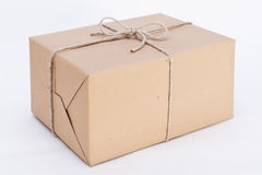 Great package ready for shipment. Package ready for shipment, wrapped in brown paper and tied with twine royalty free stock photos