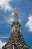 Great Pagoda (Bangkok, Thailand). The top of great pagoda is ancient pagoda in Ayutthaya era in Temple of Dawn (Wat Arun) and it is landmark on the Chaphraya Royalty Free Stock Images