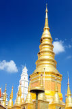 Great Pagoda at Wat Phrabat Huai Tom Stock Photography
