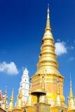 Great Pagoda at Wat Phrabat Huai Tom. Lamphun Thailand Stock Photography