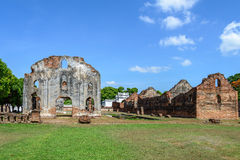 Great palace of king Narai, King of Ayutthaya kingdom.  Royalty Free Stock Images