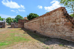 Great palace of king Narai, King of Ayutthaya kingdom Stock Image
