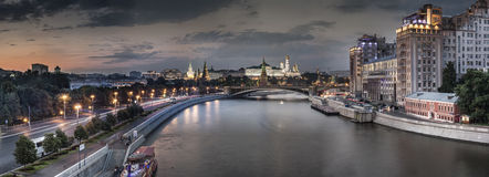 Great panorama of Moscow. At summer evening Stock Images