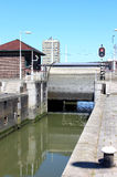 Great Park Lock in Rotterdam, Holland Royalty Free Stock Images