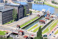 Great Park Locks in Rotterdam, Holland Royalty Free Stock Photography