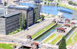 Great Park Locks in Rotterdam, Netherlands Royalty Free Stock Photography