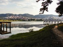 The Great Park of Tirana. royalty free stock images