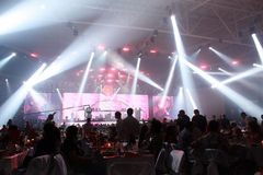 Great party with concert stock photography