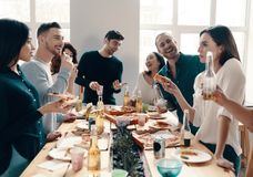 Great party. stock images