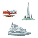 Great Patriotic War Monuments. Vector illustration Stock Photos