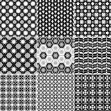 9 Great  patterns. Set of seamless  patterns. Minimalism Royalty Free Stock Photos