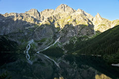 Great peaks in the Polish Tatra mountains Royalty Free Stock Photography