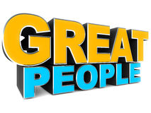 Great people Stock Image