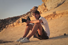 A great photographer stock photography