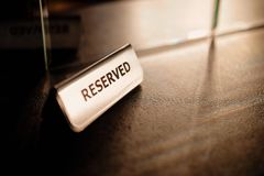 Reserved on the table Royalty Free Stock Image