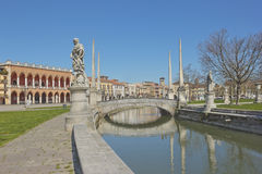 Great piazza of Prato della Valle in Padua, Italy Royalty Free Stock Photos