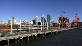 Great Pier for recreation at Manhattan Midtown USA cityscapes. Great Pier for recreation at Manhattan Midtown United States cityscapes videoclip stock video