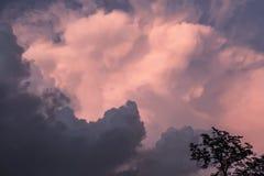 Great pink-grey storm inspiration sky. Great pink-grey storm inspiration pretty real sky for eternal emotions stock photos