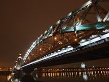 Great Piter bridge in perspective Royalty Free Stock Photos