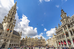 Great Place of Brussels Royalty Free Stock Image
