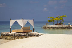 Great place for a holiday in the Maldives Stock Photography