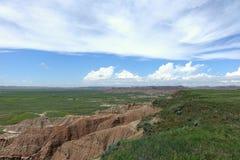 Great Plains Badlands nationalpark, South Dakota Fotografering för Bildbyråer