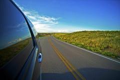 Great Plains Journey. American Highway Thru South Dakota. Great Getaway Theme. Transportation Photo Collection Royalty Free Stock Photos