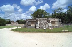 The Great Plaza . Venus Platform in Chichen Itza, Mexico Stock Photography