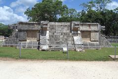 The Great Plaza. Venus Platform in Chichen Itza, Mexico Stock Photography
