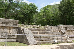The Great Plaza. Venus Platform in Chichen Itza, Mexico Stock Image