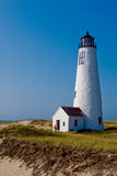 Great Point Lighthouse on Nantucket, Mass. Great Point lighthouse is a popular tourist attraction on Nantucket Island in Massachusetts Stock Photos