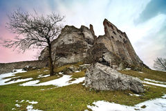 The great Polish castle - Ogrodzieniec Royalty Free Stock Photography