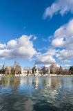 The Great Pond on Retiro Park in Madrid, Spain. Stock Image