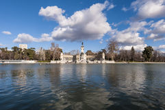 The Great Pond on Retiro Park in Madrid, Spain. Stock Images