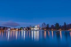 The Great Pond on Retiro Park in Madrid, Spain. Stock Image