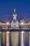 The Great Pond on Retiro Park in Madrid, Spain. Royalty Free Stock Image