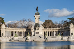 The Great Pond on Retiro Park in Madrid, Spain. Stock Photo