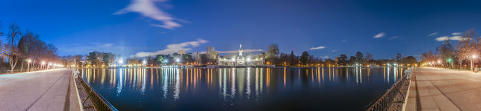 The Great Pond on Retiro Park in Madrid, Spain. Stock Photography