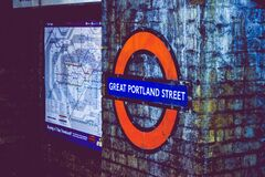 Great Portland Street subway sign