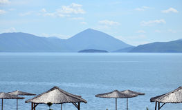 Great Prespa lake, Macedonia, Stock Photo
