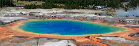 Great Prismatic Spring Panorama Stock Images
